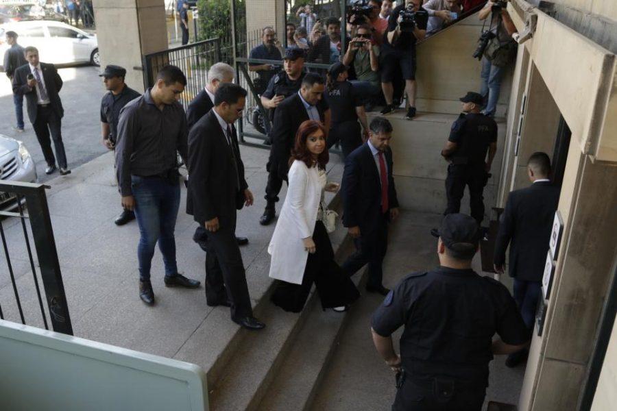 La llegada de CFK a Comodoro Py