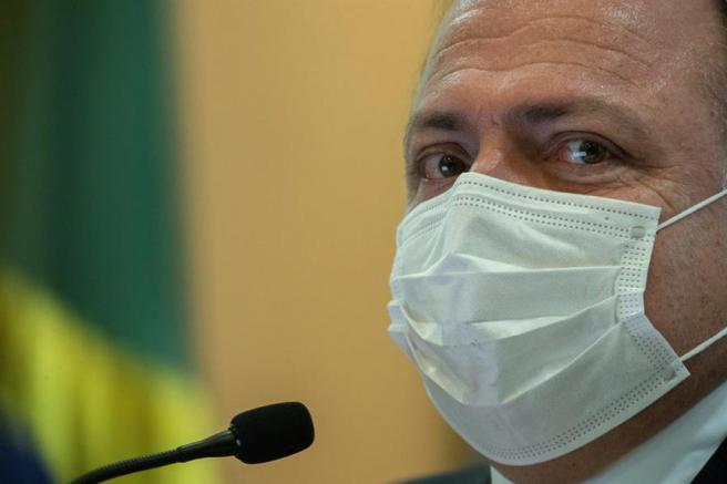 Eduardo Pazuello, el último ex ministro de Brasil. Fue reemplazado por Marcelo Queiroga.